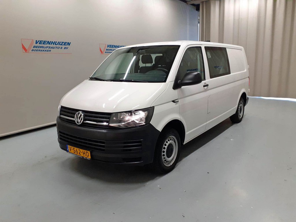 Volkswagen Transporter 2.0 TDI 102PK L2/H1 Dubbele Cabine Airco 6-Persoons Euro 6!
